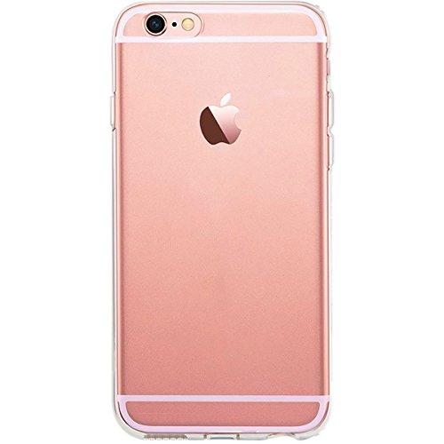 GIRLSCASES® | iPhone 6-6S Hülle | Mit coolen Spruch Aufdruck Motiv | Smile | Case transparente Schutzhülle | Farbe: weiß | 1x Transpartent