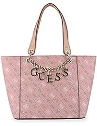 Guess - Bolso de tela de poliuretano para mujer Rosa rosa talla única