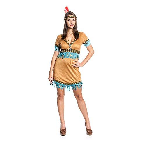 Kostümplanet® Indianer-Kostüm Damen Indianerin-Kostüm Größe 40/42 (Sexy Indianer-kostüme Für Frauen)