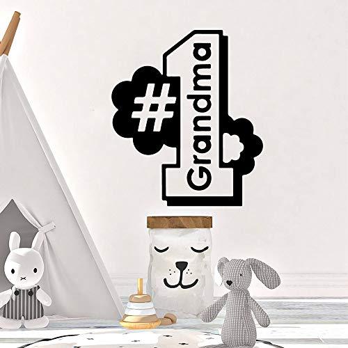 yaoxingfu Kreative Oma Erste VinylTapetenbahnMöbel Dekorative Für Kinderzimmer Vinyl KunstAufkleber 57 cm X 66 cm -