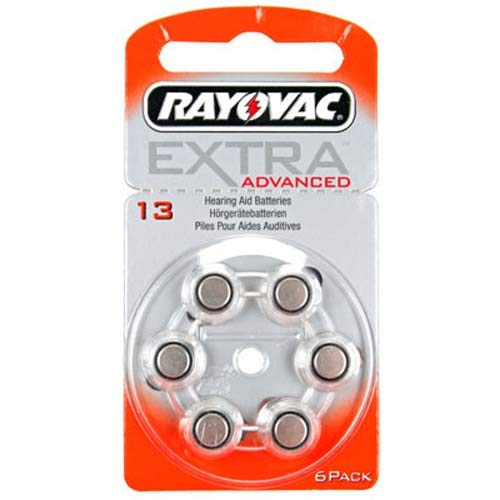 Rayovac RAHA13 Extra Advanced Hörgeräte-Batterien (6-er Pack)
