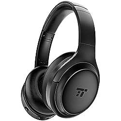 TaoTronics Casque Bluetooth à Réduction de Bruit Active [Nouvelle Version 2019] avec 30 Heures d'Autonomie Casque sans Fil Tour-Oreille Hi-FI Son, Charge Rapide pour Travail Voyage TV PC Smartphone