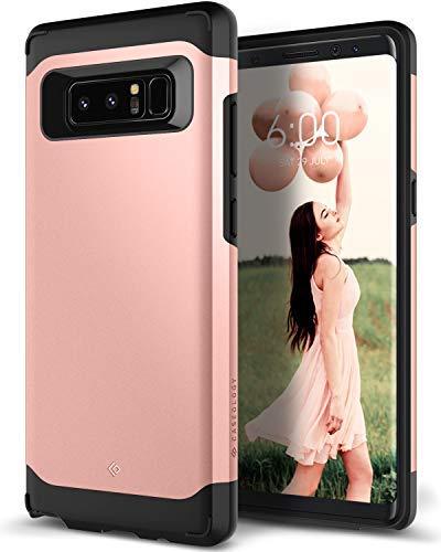 Caseology Galaxy Note 8 Hülle, [Legion Serie] Starker Schutz Schlanke Robuste Dopellagige Schutzpanzerung [Roségold - Rose Gold] für Samsung Galaxy Note 8 (2017)