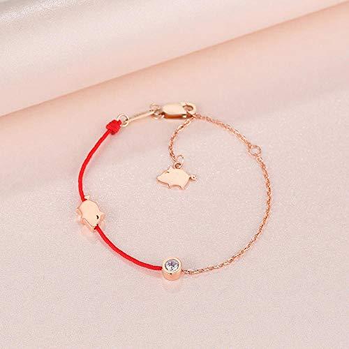 Jenny.Ben New Women's Bracelet 925 Silver Pig Transport Girl Jewelry Rose Gold Spot Stock normal delivery_925 Silver