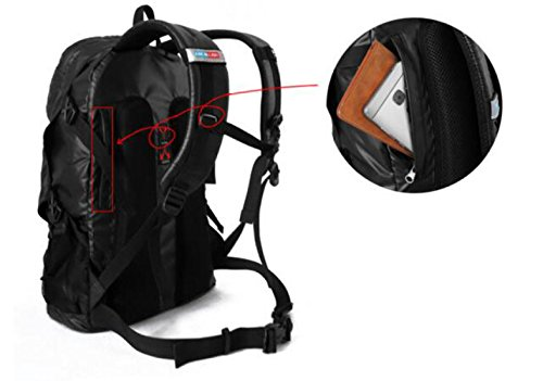 Mode Sport Reisen Knapsack Wasserdicht Nylon Schulter Tasche Black
