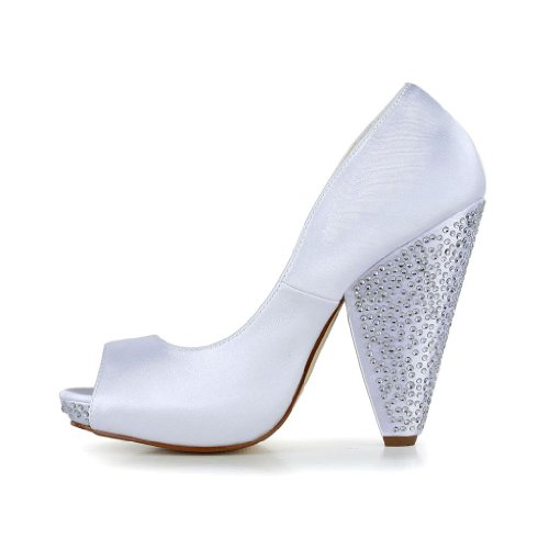 Jia Jia Wedding 2931 chaussures de mariée mariage Escarpins pour femme Blanc