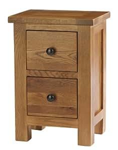 Oak collection caterham table de chevet 2 tiroirs en - Table de chevet en anglais ...