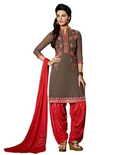 Sr Studio Women's Clothing Designer Party Wear Low Price Sale Offer Grey Color Georgette Free Size Unstitched Salwar Kameez Suit Dress Material Chiffon Dupatta
