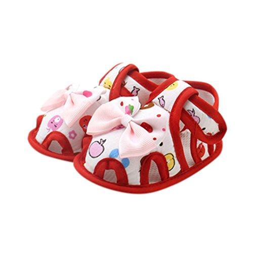 Baby Schuhe, Switchali Bogen Soft Sole Kleinkind Schuhe für 0-18 Monat Rot