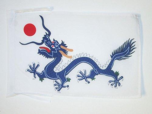 AZ FLAG Flagge China Qing-DYNASTIE 1889 45x30cm mit Kordel - CHINESISCHER Drache Fahne 30 x 45 cm - flaggen Top Qualität