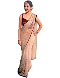 Gopinath Collections Designer Chiku Net With Sequence + Embroidery Work Saree