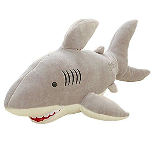 Preisvergleich Produktbild YunNasi Riesen Plüschtier Hai weiches Plüsch Kissen dient auch als Einschlafhilfe (80cm)