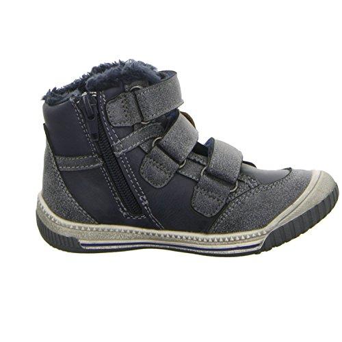 Sneakers 120-161 Jungen Schlupf/Klettstiefelette Warmfutter Blau (Blau)