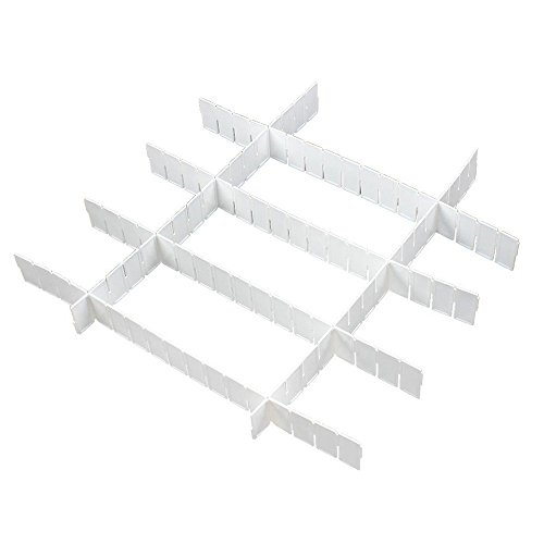 SODIAL(R) Weisse Kunststoff DIY Schubladeneinteilung (Farbe Kunststoff-lagerbehälter)
