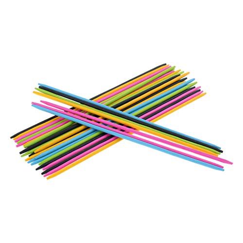 Homyl 30x Mikado Spiel Pick Up Sticks Geschicklichkeitsspiel für Kinder und Erwachsene, aus Bambus (Spiel Up Pick Sticks)