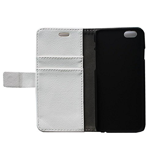 oulk® Apple One Touch Pop 2 iPhone 6 4.7 Case Étui portefeuille, en cuir PU Litchi la main Coque avec béquille