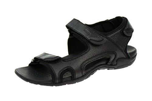 Geox S.Summer Sandale in schwarz Echtleder U3276F