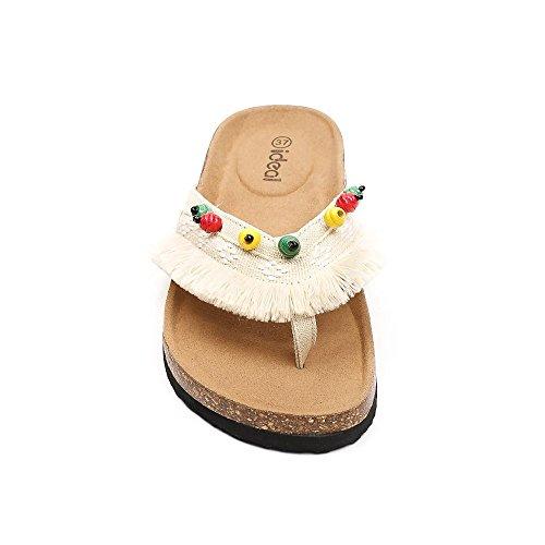 pieds Beige Ideal À Nu Adixia Franges Shoes R7vEx6
