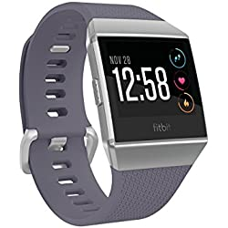 Fitbit Ionic Smartwatch Deportivo, Hombres, Azulado/Gris Plateado