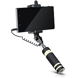aplic Selfie Stick avec câble Jack 3.5mm / Selfie Stick/Wired | Universal | Telescopic Stick pour téléphones Portables/Smartphone avec Une Largeur de 5.5cm à 9cm