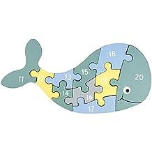 2 Goki Steckpuzzle Holzpuzzle Holzspielzeug Bauernhof Tiere Kleinkind Baby