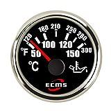 HLHD-GPS Speedometer Leggero 2 '' 52mm misuratore di Temperatura dell'Acqua del Motociclo misuratore LCD LCD Auto Camion per Auto DC12V 24V Durevole