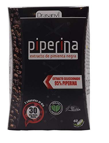 Drasanvi Piperina Forte 60 capsule, formulato con estratto di pepe nero al 95{6212415aa08ef0d4514edf2490d0f68588a7d10090192269c6e197d85a3f7632}. Pillole che aiutano a dimagrire velocemente Prodotti con effetti brucia grassi potenti (termogenico). brucia grassi.