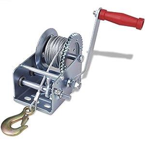 vidaXL Treuil manuel 1134 kg 10m Treuil à câble Treuil à main pour remorque auto bateaupas cher