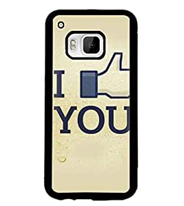 PrintDhaba Quote D-3411 Back Case Cover for HTC ONE M9S (Multi-Coloured)