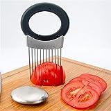 gaeruite Cipolla affettatrice, Multifunzionale in Acciaio Inox affettatrice taglierina vegetale Chopper per Cucina Patate, Pomodoro