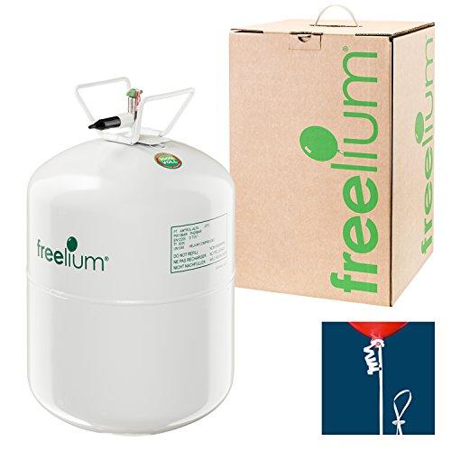freelium® go 250 - Helium / Ballongas To Go Flasche mit satten 0,25 m³ / 250 Liter + 50x Ballonband - Mit 0,25