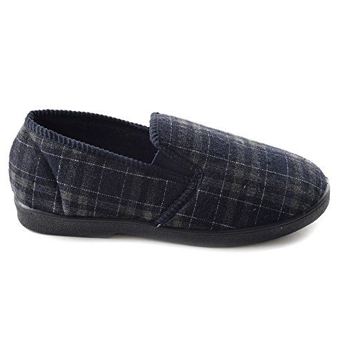 MENS ALL OVER CHECK INJECTION SLIPPER , Chaussons pour homme Noir