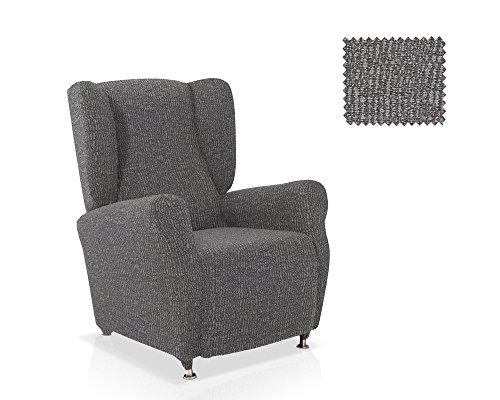 JM Textil Copripoltrona con Orecchie AIRE Dimensione Standard Colore Bianco-Nero (Disponibile in Vari Colori)