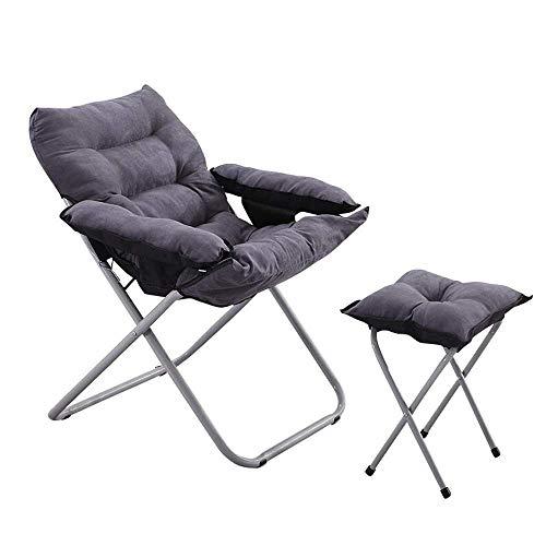 SPTAIR Freizeit Schwere Stahl Camping Stuhl Gepolsterte Sitz Faule Lounge Chair, Rückenlehne 3-Fach Anpassung Garten Lounge Chair (größe : B)