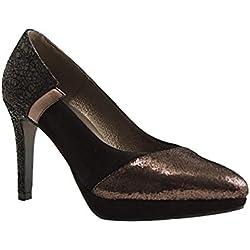 Reqins, Damen Pumps , schwarz - schwarz - Größe: 37