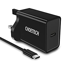 CHOETECH USB C PD Wall Charger, 18W Power Delivery Fast Wall Charger Compatible with iPad Pro, iPhone 11/11 Pro/11 Pro Max/XS/XS Max/XR/X/8,Galaxy Note 10/ S10/S10/Note 9/S9/Note 8, Nintendo Switch