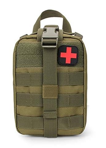 Ehebt tactique Molle First Aid Pouch Banane EDC EMT médicale militaire utilitaire Sac pour extérieur Wilderness Camping Randonnée, kaki