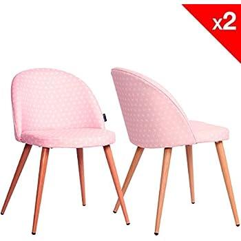chaise scandinave coque polypropyl ne rose cuisine maison. Black Bedroom Furniture Sets. Home Design Ideas