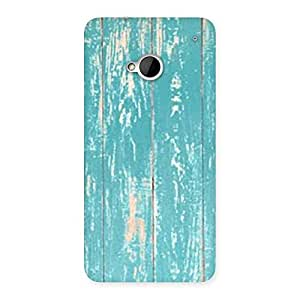 Delighted CyanBlue Bar Texture Back Case Cover for HTC One M7