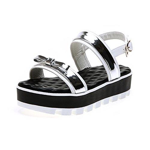 ZPPZZP Ms sandali farfalle punta aperta pendenza leisure argento 35EU 35EU