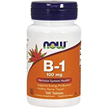 NOW Foods Vitamin B-1 (Thiamine) 100mg, 100 Tablets