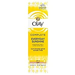Olay Complete Everyday Sunshine Moisturiser Cream with Sunless Tanner SPF15 Light 50ml.
