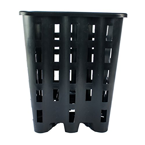 10x Gitternetz-Topf Vierkanttopf 9L aus PP 23 x 23 x 28 cm