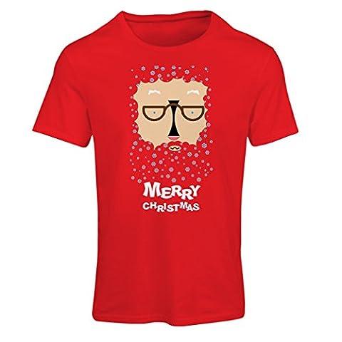 Frauen T-Shirt Lustige Weihnachtst-shirt Weihnachtsgeschenke (Large Rot Mehrfarben)