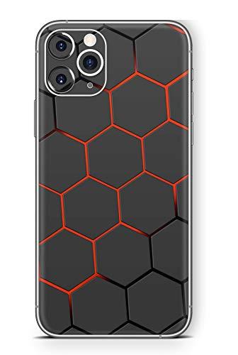 Skins4u Ultra Slim Schutzfolie für iPhone 11 Skins Matte Oberfläche Aufkleber Skin Klebefolie Kratzfest Case Cover Folie Exo Red