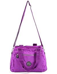 Anladia FEMME FOURRE-TOUT Sac bandoulière Messenger Sac à main Sac de loisir Maman Mère Cross Body Handbag Nylon Multi-couleurs