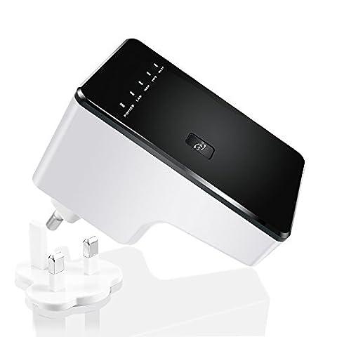 Mini Routeur/Point d'Accès/Répéteur sans fil Répétiteur Amplificateur à longue portée Wireless Extenseur Amplificateur WiFi N 300Mbps Supporte la Norme WiFi N