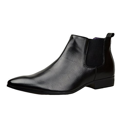 mens-black-leather-smart-formal-casual-chelsea-boots-shoes-black-10-uk
