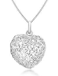 Tuscany Silver 8.44.2784 - Cadena con colgante de plata de ley (925/1000), sin gema