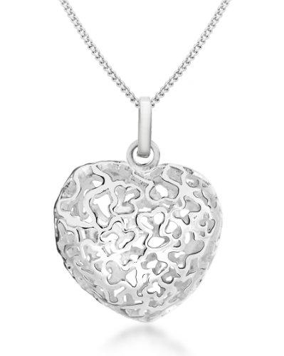 Tuscany Silver 8.44.2784 - Cadena con colgante de plata de ley (925/1000),...